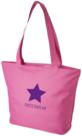 Strandtas-shopper-model-2-roos-met-opdruk-naar-keuze