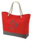 Strandtas-shopper-model-1-rood-met-bedrukking-naar-keuze