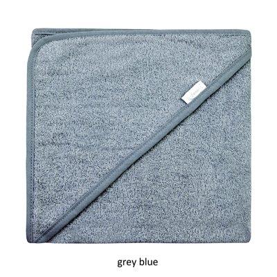Badcape grey blue met naam