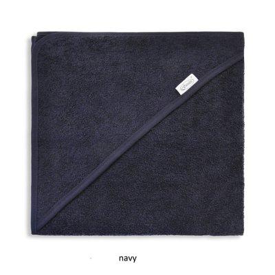 Badcape navy met naam