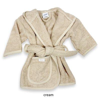Badjas cream geborduurd met naam