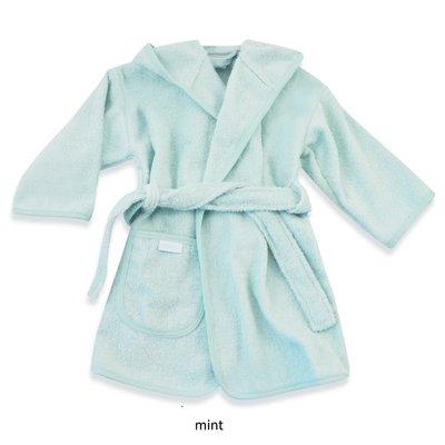 Badjas mint geborduurd met naam