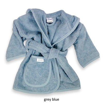 Badjas grey blue geborduurd met naam
