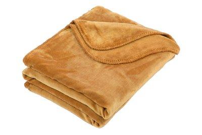 Fleece deken superzacht camel