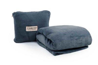 Cosy Pack: kussentje + deken blue stone