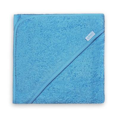 Badcape blauw met naam
