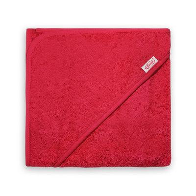 Badcape rood met naam