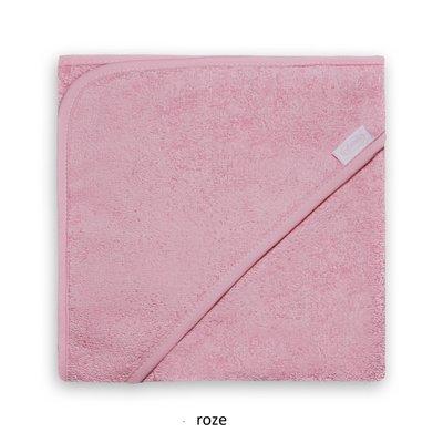 Badcape roze met naam