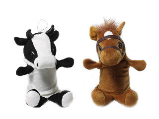 Handpop koe & paard