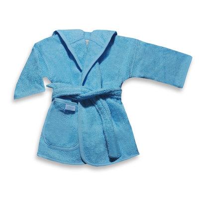Badjas licht blauw geborduurd met naam