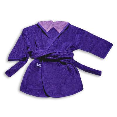 Badjas paars geborduurd met naam