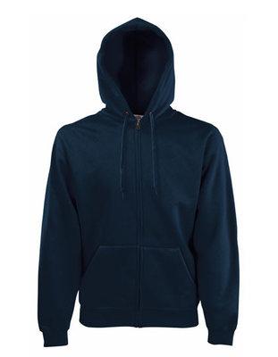 Premium hooded sweat jacket marine