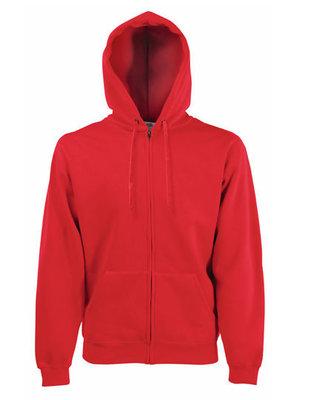 Premium hooded sweat jacket rood
