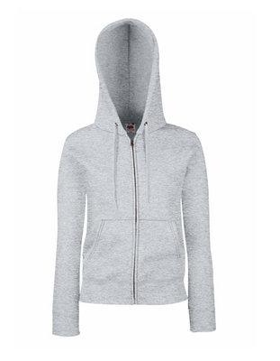 Dames premium hooded sweat jacket grijs