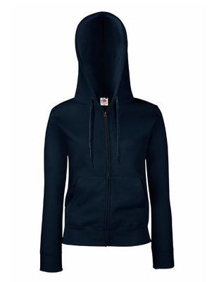 Dames premium hooded sweat jacket marine