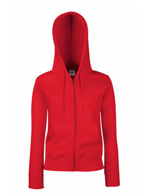 Dames premium hooded sweat jacket rood