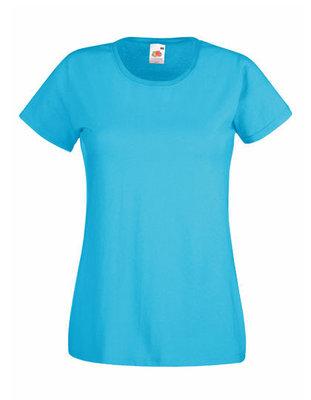 Dames t-shirt met ronde hals azure