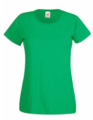 Dames t-shirt met ronde hals groen