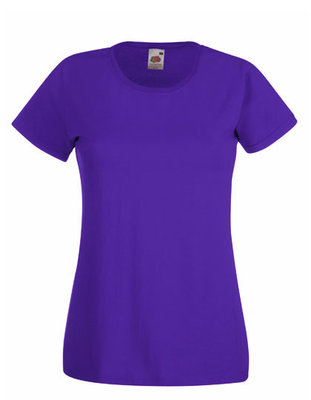 Dames t-shirt met ronde hals paars
