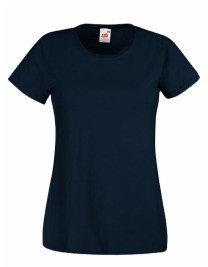 Dames t-shirt met ronde hals marine