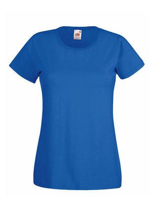 Dames t-shirt met ronde hals koningsblauw