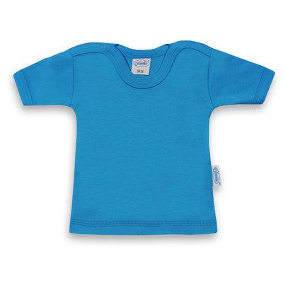 T-shirt turquoise met korte mouwen