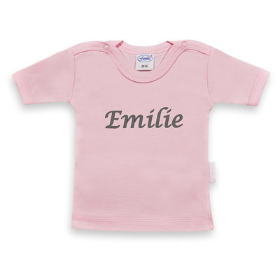 T-shirt licht roos met korte mouwen