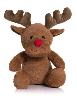 Knuffel Rudolf met t-shirtje geborduurd met naam.