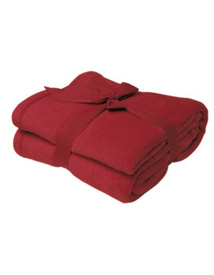 fleece deken superzacht bordeaux