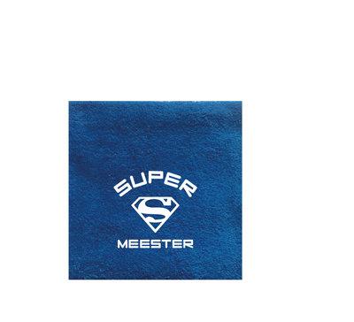 Badlaken met logo Super Meester/Super Juf