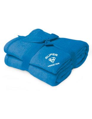 fleece deken met logo Superjuf/Supermeester