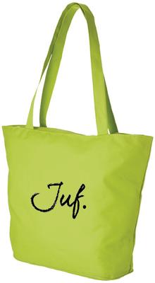 Strandtas/shopper lime Juf
