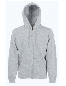 Premium hooded sweat jacket grijs
