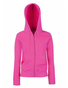 Dames premium hooded sweat jacket fuchsia
