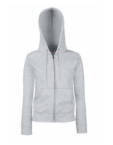 Dames premium hooded sweat jacket grijs