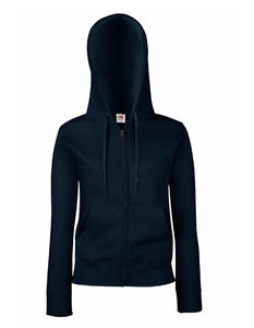 Dames premium hooded sweat jacket marine