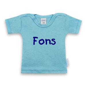 T-shirt licht blauw met korte mouwen