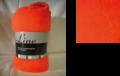 Coral fleece deken superzacht Combi Line Oranje