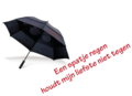 Storm paraplu met tekst voor Valentijn