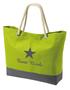 Strandtas/shopper model 1 lime met bedrukking naar keuze
